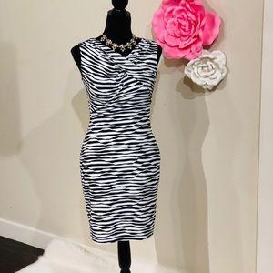 Calvin Klein Textured Striped Sheath Dress